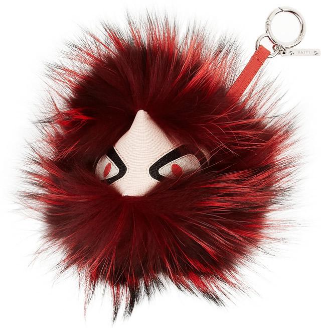 Fendi Monster Charm Red