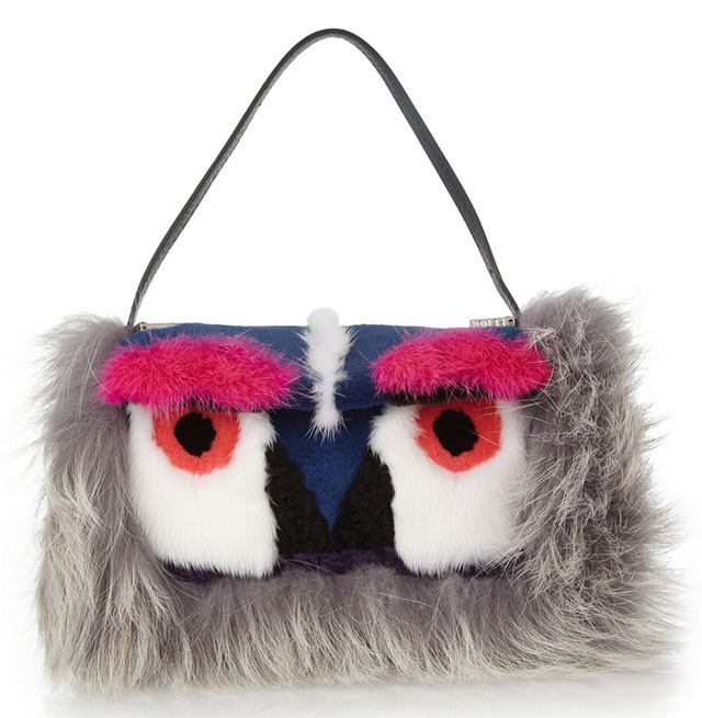 Fendi Monster Fur Baguette Bag