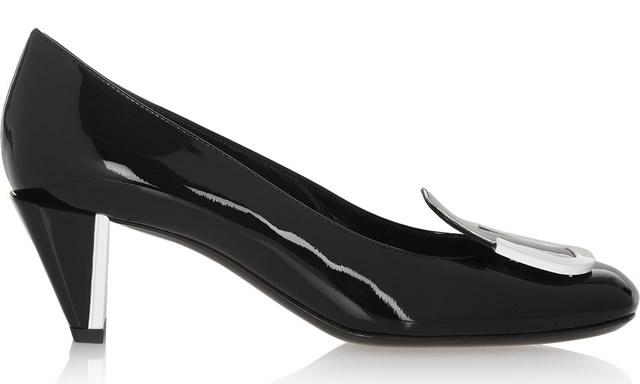 Fendi Square-toe Patent-Leather Pumps