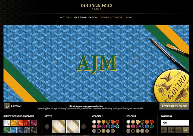 Goyard Handbag Personalization