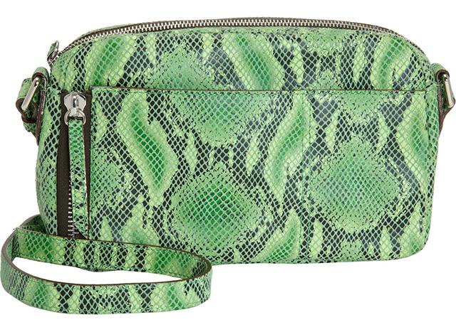 Gryson Snake-Stamped Crossbody Bag