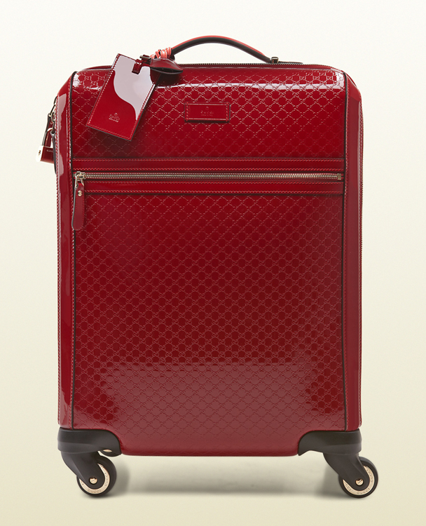 Gucci Microguccissima Patent Leather Carry-On Suitcase