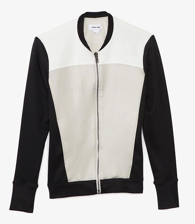 Helmut Lang Glossy Knit Baseball Jacket