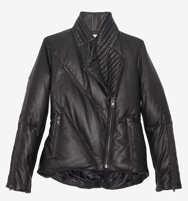 Helmut Lang Leather Puffer Jacket