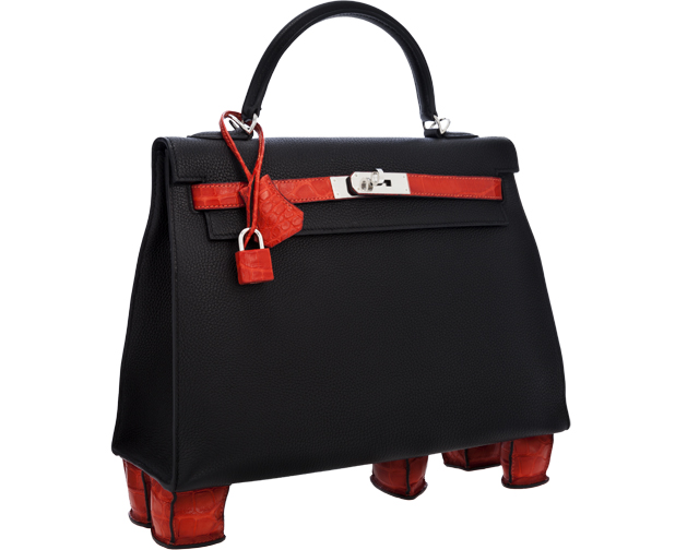 Hermes Bicolor Kelly Bag with Feet