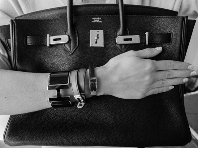 Hermes Black and White Birkin