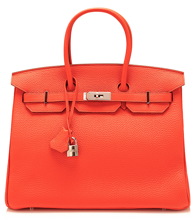 Hermes Clemence Capucine Leather Birkin Bag