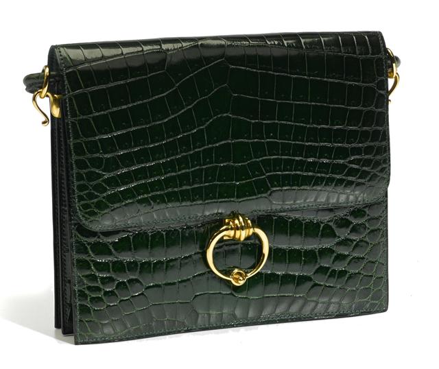 Hermes Crocodile Sac Sequana Handbag