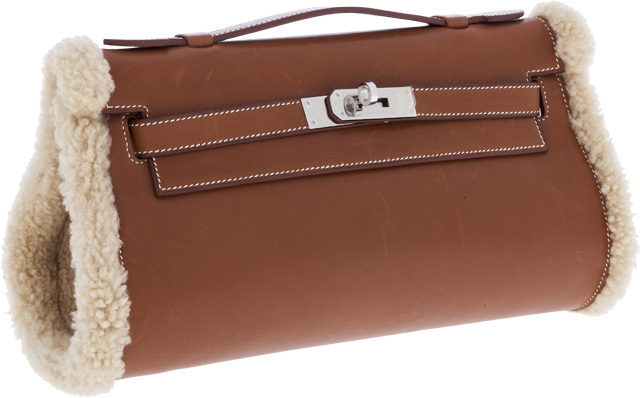 Hermes Limited Edition Kelly Shearling Muff