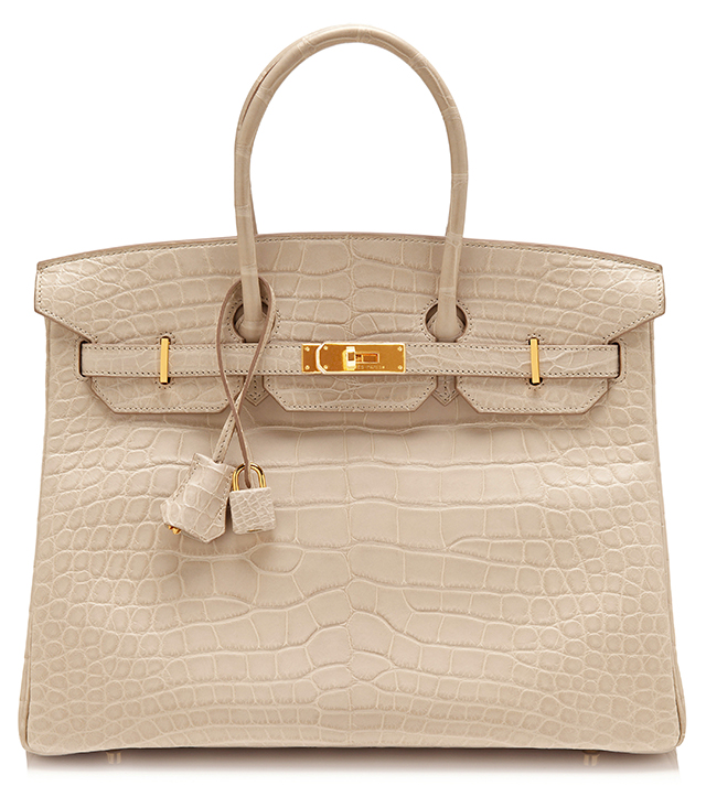 Hermes Matte Beton Alligator Birkin Bag
