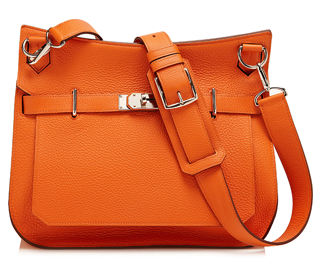Hermes Orange H Clemence Jypsiere Bag