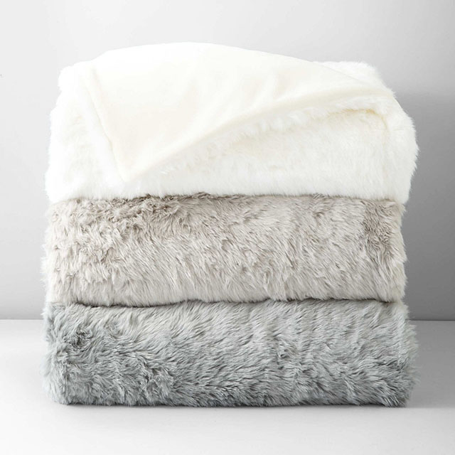 Hudson Park Faux Fur Throw Blankets