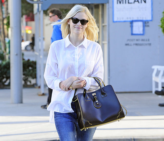 Jaime King carries a black Jason Wu tote in California (5)