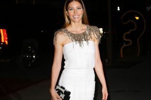 Jessica Biel Stuns with a Chanel Clutch at MoMA Benefit