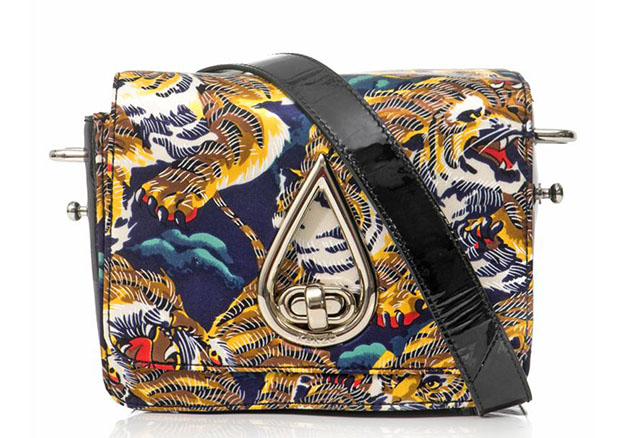 Kenzo Flying Tiger Print Satin Bag