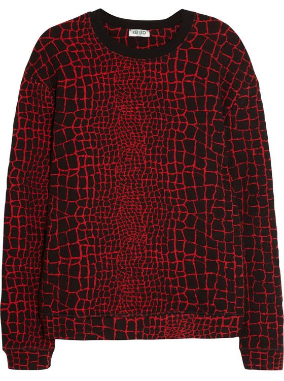 Kenzo Reptile Jacquard Jersey Sweatshirt