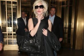 Lady Gaga and her Versace Bag Look a Bit Confused