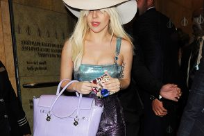 Lady Gaga Just Can't Get Enough Versace