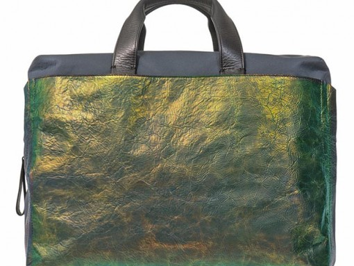 Lanvin Iridescent Leather Commuting Bag