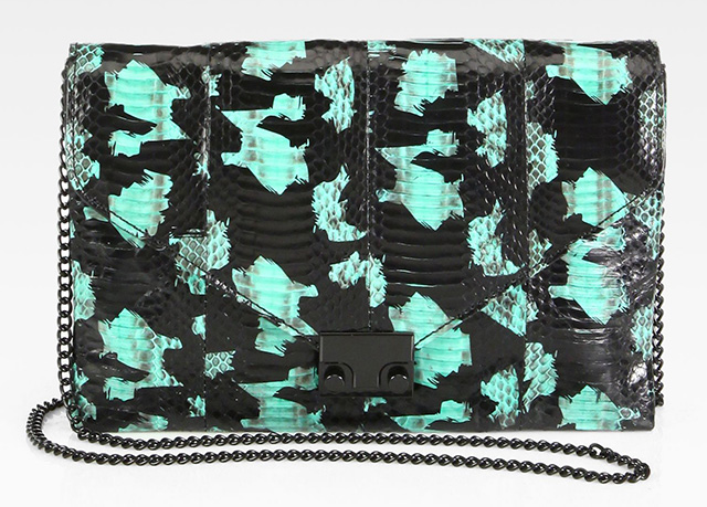 Loeffler Randall Watersnake Lock Convertible Clutch