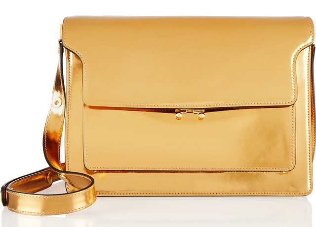 Marni Metallic Leather Shoulder Bag