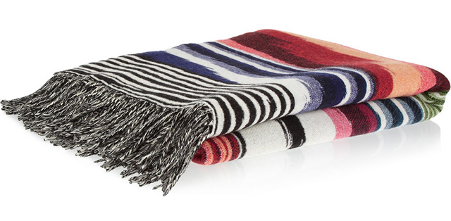 Missoni Home Oberon Wool and Cashmere Blend Throw