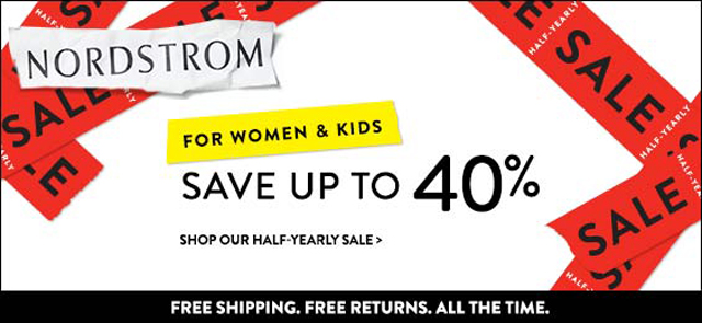 Nordstrom Half Yearly Sale 2013