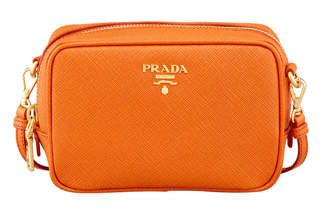 Prada Saffiano Small Zip Crossbody Bag