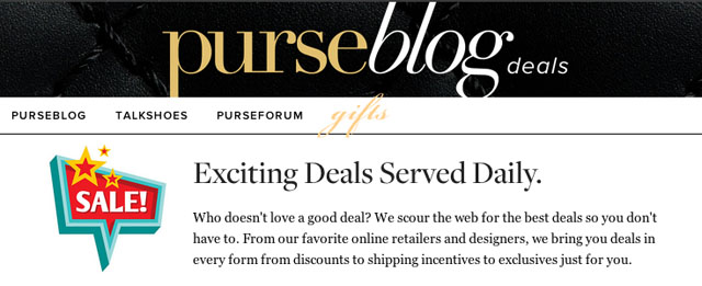 PurseBlog Deals