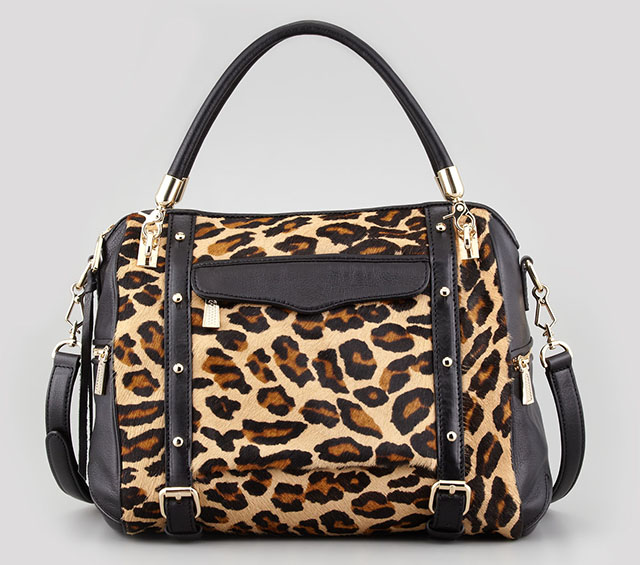 Rebecca Minkoff Cupid Calf Hair Leopard Satchel