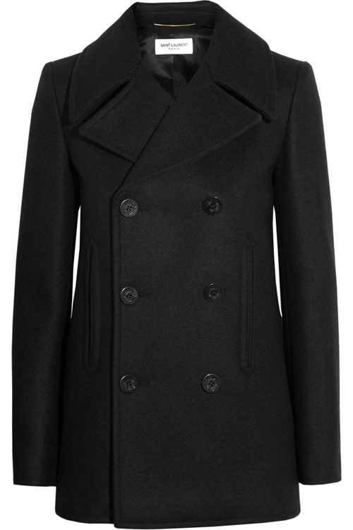Saint Laurent Wool Felt Pea Coat