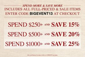Black Friday 2013 Starts Early with ShopBop's Spend More, Save More Sale!