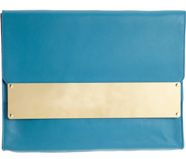 Sophie Hulme Metal Tab Document Clutch