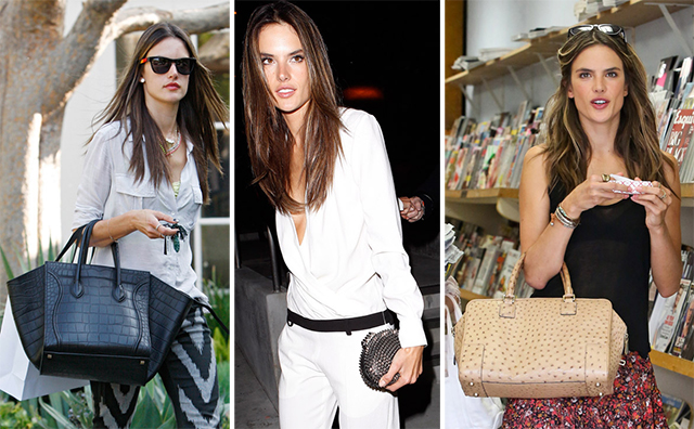 The Many Bags of Alessandra Ambrosio