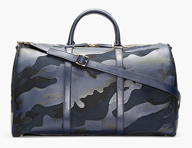 Valentino Navy Camo Boston Bag
