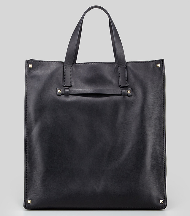 Valentino Stud Corner Leather Tote