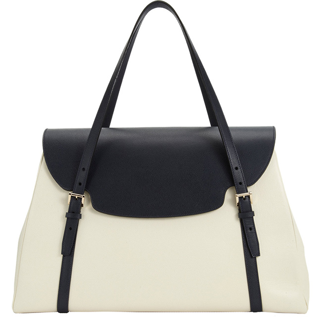 Valextra Front Flap Shoulder Bag