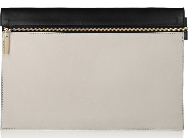 Victoria Beckham Two-tone Folded Top Clutch