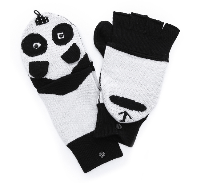 Alice and Olivia Panda Mittens