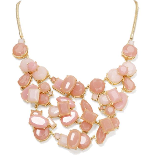 Aqua Cluster Stone Bib Necklace