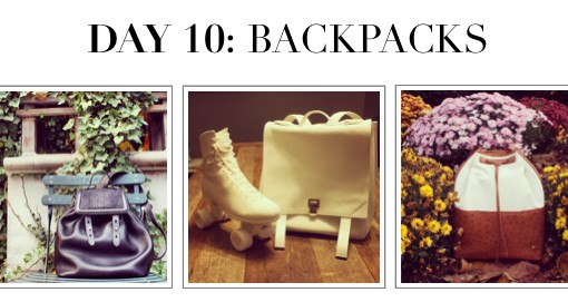 #12DaysofHandbags Day 10: Backpacks