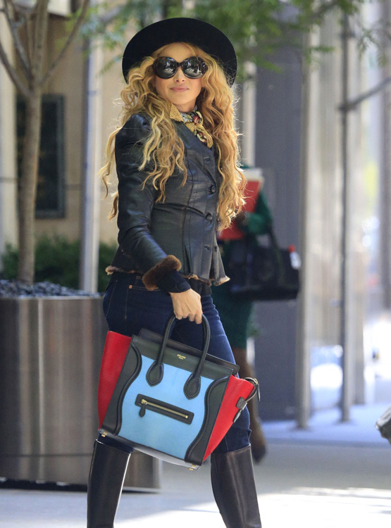 Celebs and Celine Luggage Totes 12