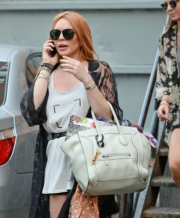 Celebs and Celine Luggage Totes 22