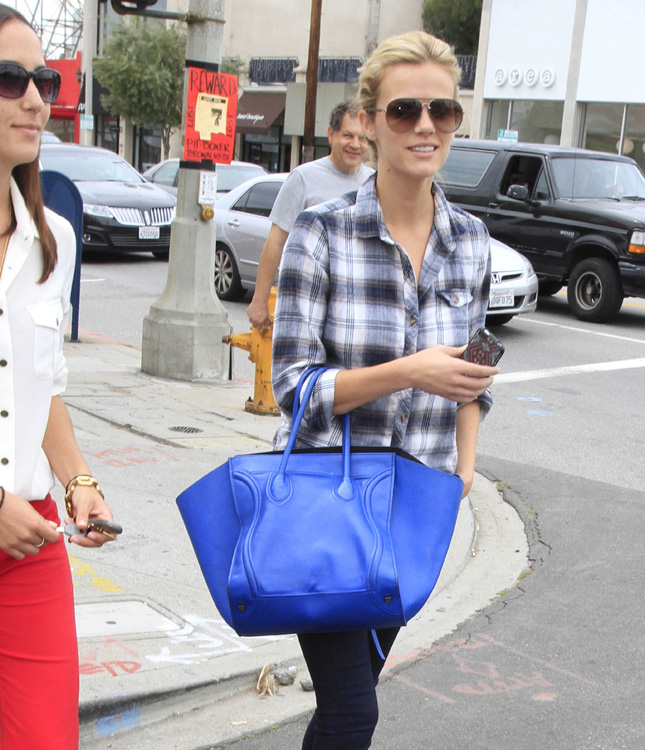 Celebs and Celine Luggage Totes 4