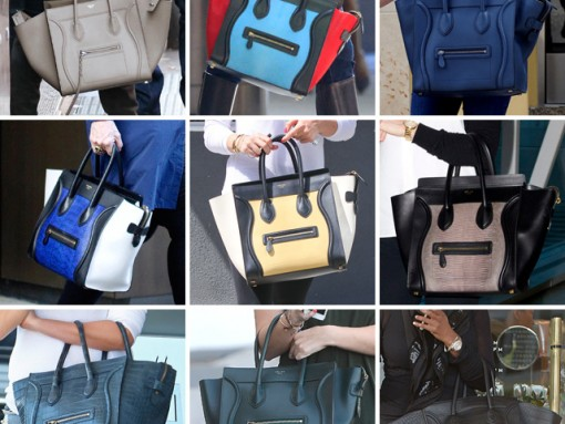 Celebs and Their Celine Luggage Totes: A Retrospective, Part Two