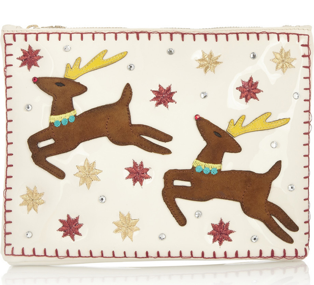 Charlotte Olympia Rudolph Appliqued Clutch