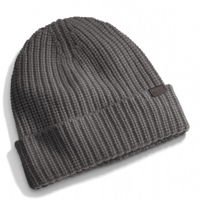Coach Cashmere Solid Knit Hat
