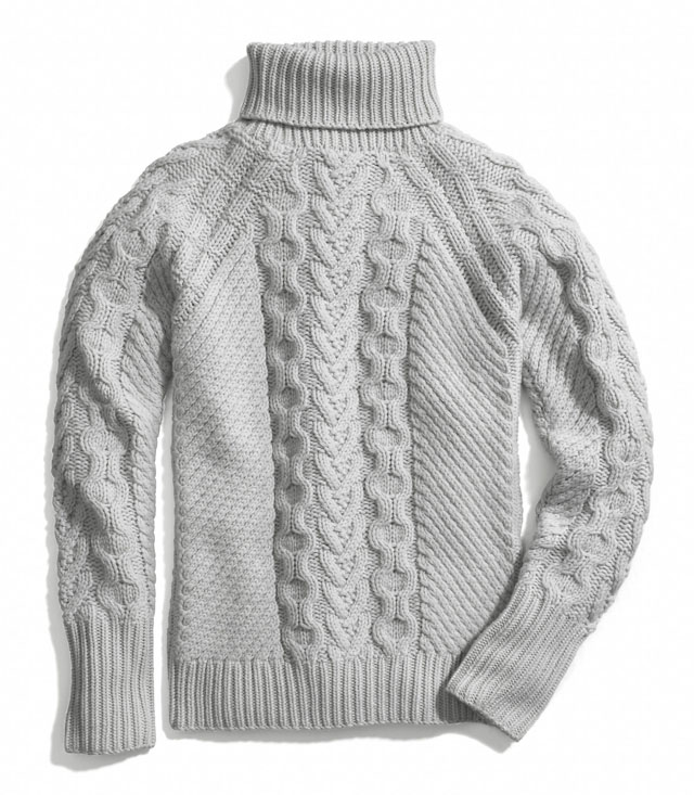 Coach Handknit Aran Polo Neck Sweater