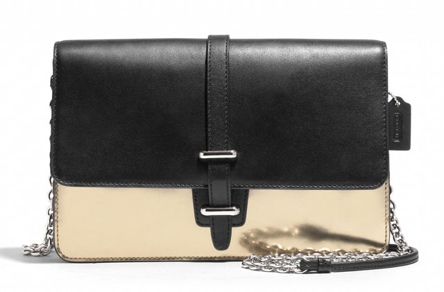 Coach Legacy Mirror Metallic Slim Clutch
