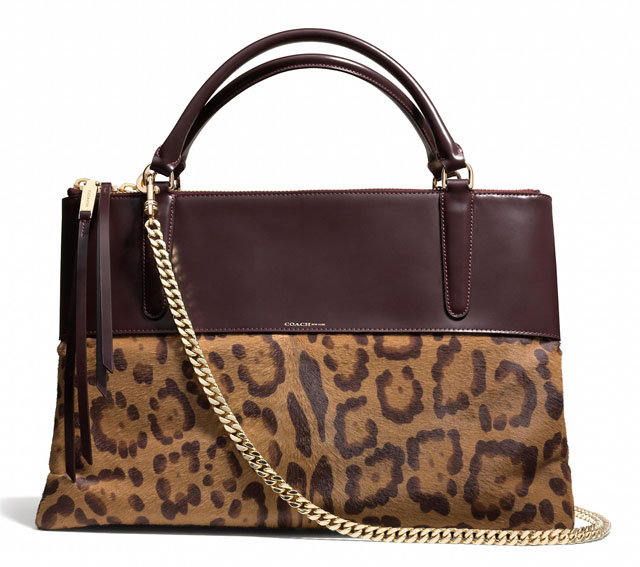 Coach Leopard Borough Bag